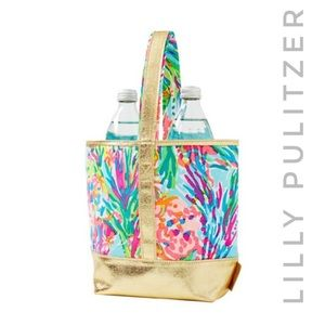 LILLY PULITZER fan sea pants wine tote